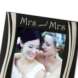 Mrs and Mrs - Silver Plated, Black and Silver Photo Frame, Available in Two Sizes - engraving-gallery.com