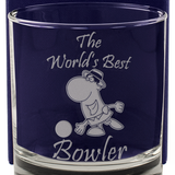The World's Bowler- Engraved Whisky Tumbler Glass - engraving-gallery.com