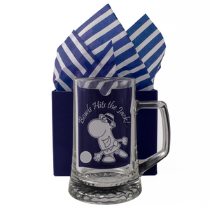 Bowls Hits The Jack! - Engraved Tankard Beer Pint Glass - engraving-gallery.com