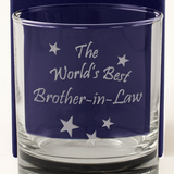 The World's Best Brother-in-Law - Engraved Whisky Tumbler Glass - engraving-gallery.com