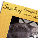 Cat Memorial, Bereavement - Personalised Wood Photo Frame - engraving-gallery.com