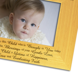 Christening Day - Engraved Solid Wood Photo Frame - engraving-gallery.com