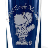 Cricket - Cricket Bowls Me Over - Engraved Beer Pint Glass - engraving-gallery.com