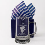The World's Best Cricketer - Engraved Tankard Beer Pint Glass - engraving-gallery.com