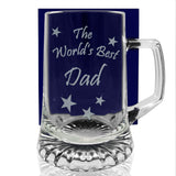 The World's Best Dad - Engraved Tankard Beer Pint Glass