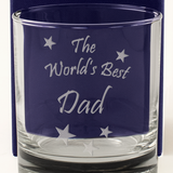 The World's Best Dad - Engraved Whisky Tumbler Glass - engraving-gallery.com