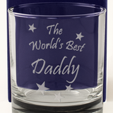 The World's Best Daddy - Engraved Whisky Tumbler Glass - engraving-gallery.com