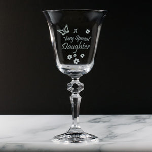 Girlfriend - A Very Special Girlfriend - Engraved Crystal Wine Glass