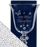Daughter - A Very Special Daughter - Engraved Crystal Wine Glass