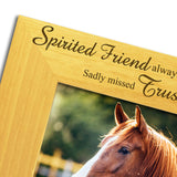 Horse Bereavement - Engraved Solid Wood Photo Frame - engraving-gallery.com