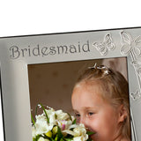 Bridesmaid - Silver Plated Photo Frame - engraving-gallery.com