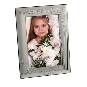 Flower Girl - Silver Plated Photo Frame - engraving-gallery.com