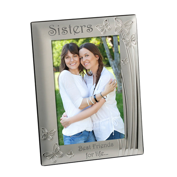 Sisters - Silver Plated Photo Frame - engraving-gallery.com