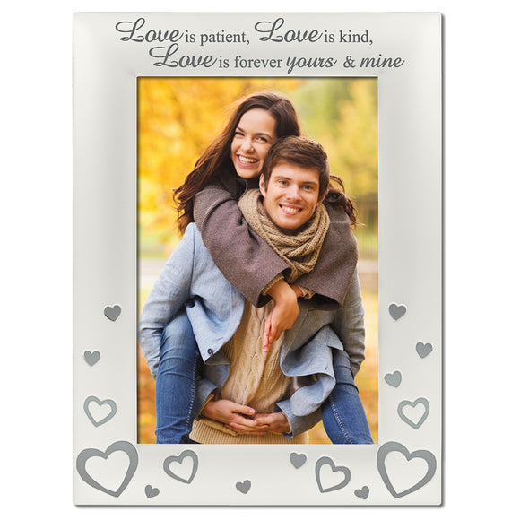 Love is Patient - Silver Plated, Silver Photo Frame - engraving-gallery.com