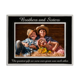 Brothers and Sisters - Silver Plated, Black and Silver Photo Frame - engraving-gallery.com