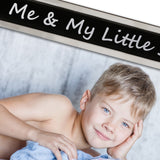 Me and My Little Sister - Silver Plated, Black and Silver Photo Frame - engraving-gallery.com