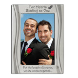 Civil Partnership - Silver Plated, Silver Photo Frame - engraving-gallery.com
