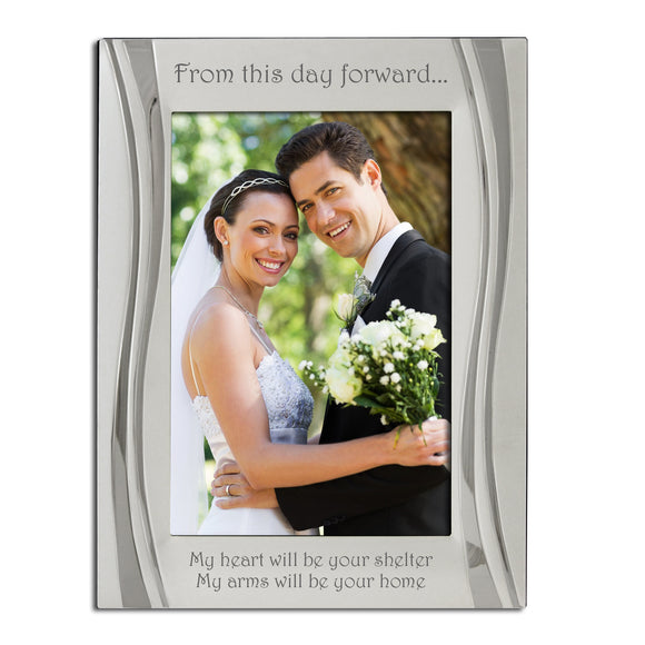 Wedding Day, From this Day Forward - Silver Plated, Silver Photo Frame, Available in Two Sizes - engraving-gallery.com