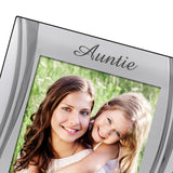 Auntie - Silver Plated, Silver Photo Frame - engraving-gallery.com