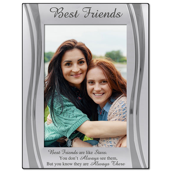 Best Friends - Silver Plated, Silver Photo Frame - engraving-gallery.com