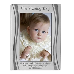 Christening Day - Silver Plated, Silver Photo Frame, Available in Two Sizes - engraving-gallery.com