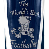Football - The World's Best Footballer - Engraved Beer Pint Glass - engraving-gallery.com