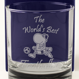 The World's Best Footballer - Engraved Whisky Tumbler Glass - engraving-gallery.com