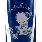 Football Scores - Engraved Beer Pint Glass - engraving-gallery.com