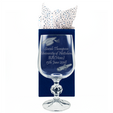 Graduation - Personalised Glass Wine Goblet - engraving-gallery.com