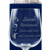 Bridesmaid  - Personalised Glass Wine Goblet - engraving-gallery.com