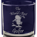 The World's Best Golfer - Engraved Whisky Tumbler Glass - engraving-gallery.com