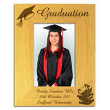 Graduation - Personalised Wood Photo Frame - engraving-gallery.com