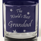 The World's Best Grandad - Engraved Whisky Tumbler Glass - engraving-gallery.com
