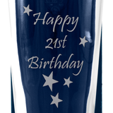 21st - Happy 21st Birthday - Engraved Beer Pint Glass - engraving-gallery.com