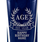Birthday Wreath - Personalised Modern Beer Glass - engraving-gallery.com
