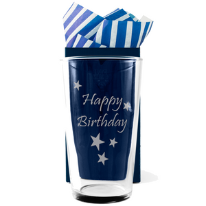Happy Birthday - Engraved Beer Pint Glass - engraving-gallery.com