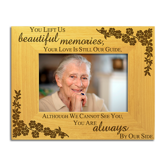 Beautiful Memories - Engraved Wood Photo Frame - engraving-gallery.com