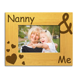 Nanny & Me - Engraved Wood Photo Frame - engraving-gallery.com