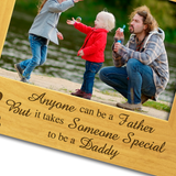 World's Best Daddy - Engraved Wood Photo Frame - engraving-gallery.com