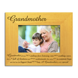 Grandmother - Engraved Solid Wood Photo Frame - engraving-gallery.com