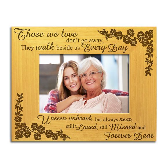 Those We Love- Engraved Solid Wood Photo Frame - engraving-gallery.com