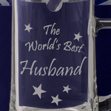 The World's Best Husband - Engraved Tankard Beer Pint Glass - engraving-gallery.com