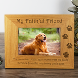 Dog, My Faithful Friend - Engraved Wood Photo Frame - engraving-gallery.com