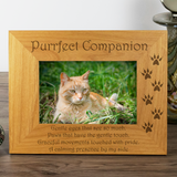 Cat, Purrfect Companion - Engraved Wood Photo Frame - engraving-gallery.com