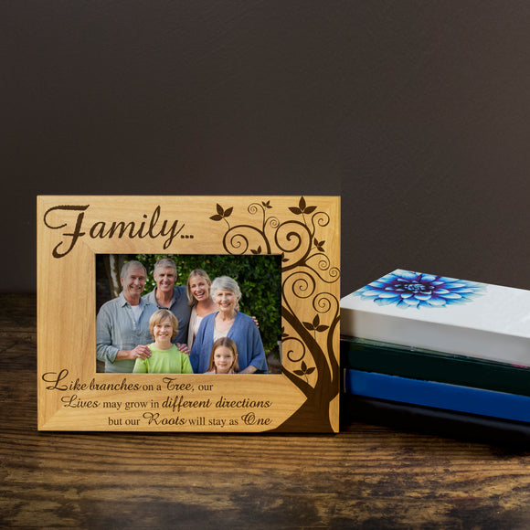 Family - Engraved Wood Photo Frame - engraving-gallery.com