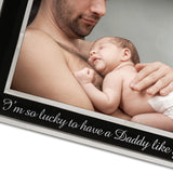 Me and My Daddy - Silver Plated, Black and Silver Photo Frame - engraving-gallery.com
