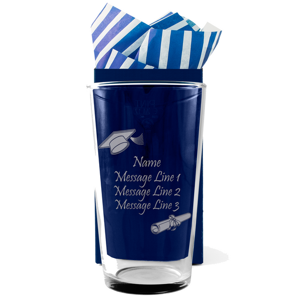 Graduation - Personalised Modern Beer Pint Glass
