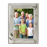 Mum No Greater Blessing - Silver Plated Photo Frame - engraving-gallery.com