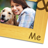 My Dog & Me - Engraved Wood Photo Frame - engraving-gallery.com