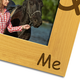 My Horse and Me - Engraved Solid Wood Photo Frame - engraving-gallery.com
